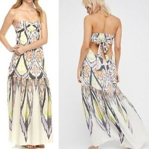 Free People Strapless Mojave Maxi Dress Size L